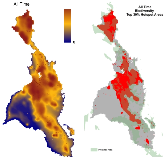 All Time Biodiversity Mapping