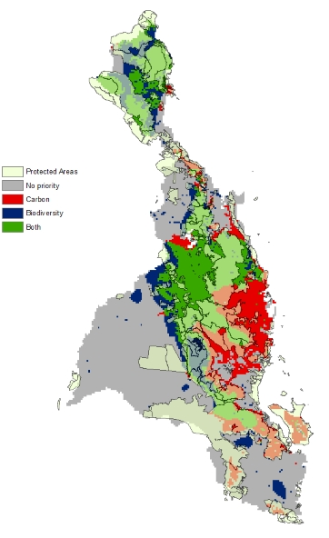 Carbon Biodiversity Protected Areas Overlay